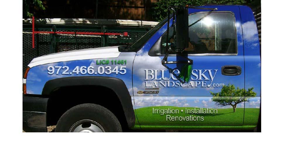 Blue Sky Landscape Wraps