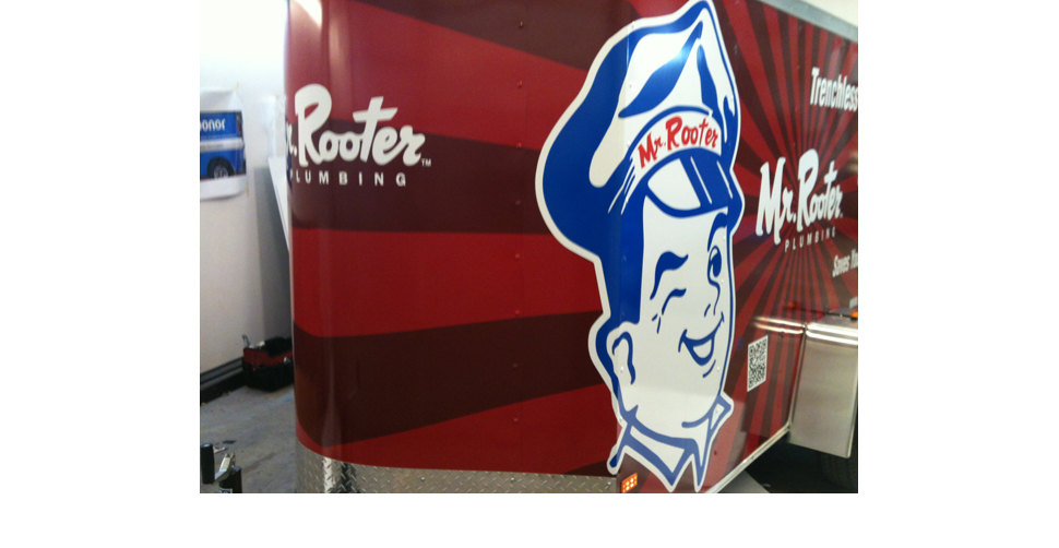 Mr. Rooter Trailer Wrap