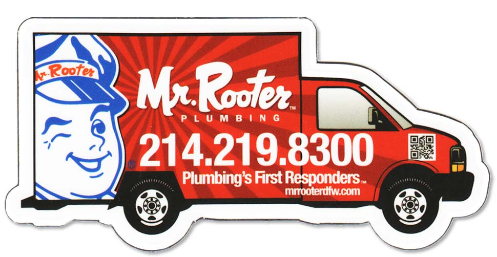 Mr. Rooter Fridge Magnet